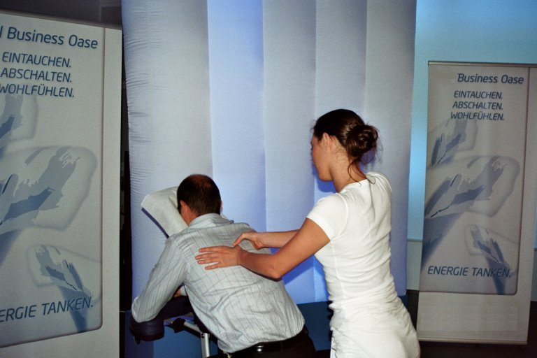 Business event massage an firmen anlass