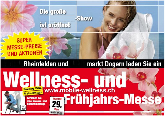 Wellness Messe in Kaufhaus, gratis Massagen für Kunden