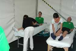 Massage an Sportevent